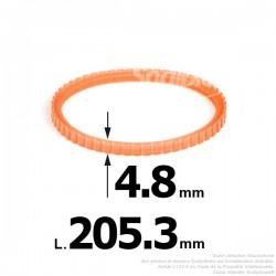 Courroie pour électro portatif 205,3x4,8
