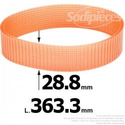 Courroie pour électro portatif 363,3x28,8