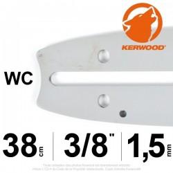 """Guide tronçonneuse Kerwood. 38 cm. 3/8"""". 1,5 mm. 15A3KLWC"""
