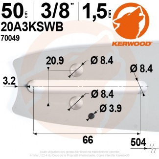 "Guide Kerwood. 50 cm, 3/8"". 1,5 mm. 20A3KSWB"