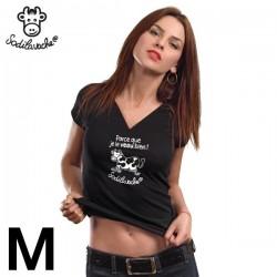 """T.Shirt : """" Parce que je le veau bien ! """" Femme taille M"""
