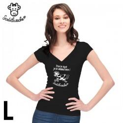 """T.Shirt : """" Parce que je le veau bien ! """" Femme taille L"""