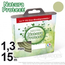 Fil Natura Protect Oxo-biodégradable, coque rond 1,3 mm x 15 m