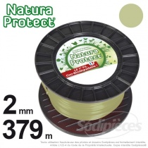 Fil Natura Protect Oxo-biodégradable, bobine rond 2 mm x 379 m
