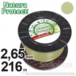 Fil débroussailleuse Natura Protect, coque rond 1,3 mm x 15 m