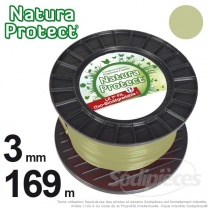 Fil Natura Protect Oxo-biodégradable, bobine rond 3 mm x 169 m