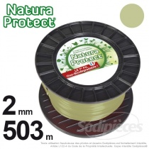 Fil Natura Protect Oxo-biodégradable, bobine rond 2 mm x 503 m