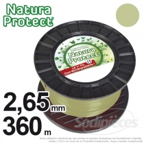 Fil Natura Protect Oxo-biodégradable, bobine rond 2,65 mm x 360 m