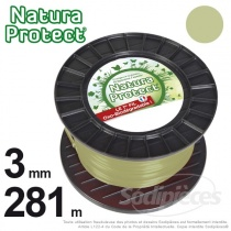 Fil Natura Protect Oxo-biodégradable, bobine rond 3 mm x 281 m