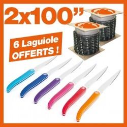 2 Chaînes tronçonneuse KERWOOD 100 pieds : 6 couteaux Laguiole !