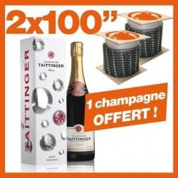 """2 Chaînes Kerwood 100"""". 1 bouteille de Champagne !"""