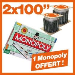 "2 Chaînes Kerwood 100"". 1 Monopoly tradition !"