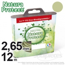 Fil Natura Protect Oxo-biodégradable, coque rond 2.65 mm x 12 m