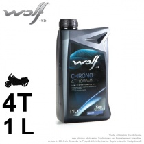 Huile 2 roues. Wolf Chrono 4Temps 10W40. 1 Litre