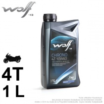 Huile 2 roues. Wolf Chrono 4Temps 10W60. 1 Litre