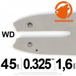 """Guide tronçonneuse Kerwood. 40 cm. 3/8""""LP. 1,3 mm. 16B2KCWD"""