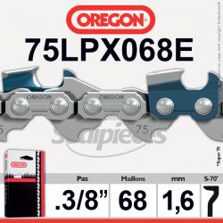 """Chaîne tronçonneuse OREGON Super 70. 3/8"""". 1,6mm. 68 maillons"""