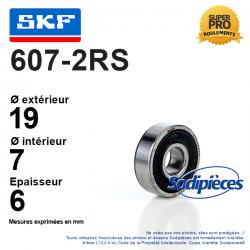 Roulement à billes 607-2RS SKF. Double étanchéité