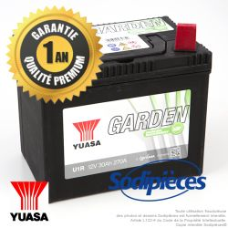 Batterie YUASA Garden U1R9 pour tondeuse autoportée