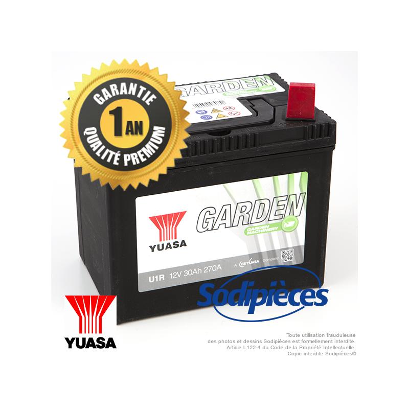 batterie yuasa garden u1r9 pour tondeuse autoport e. Black Bedroom Furniture Sets. Home Design Ideas
