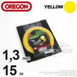 Fil Orégon Yellow rond jaune. 1,3 mm x 15 m pour débroussailleuse