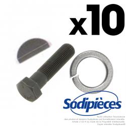 Lot Clavettes + rondelles freins + Vis de lame. Par 10