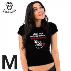 """T-shirt """"Achetez plutôt une bonne...""""  femme taille M"""