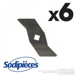 Couteaux scarificateurs pour Alko n° origine 510825. Jeu de 6