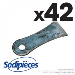 Couteaux  scarificateurs pour Cramer n° origine 99.5.2036. Jeu de 42