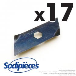 Couteaux scarificateurs pour Dolmar n° origine 666.062.480. Jeu de 17