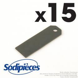 Couteaux scarificateurs pour Sabo n° origine SA30928, 30928. Jeu de 15