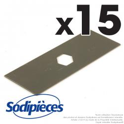 Couteaux scarificateurs pour Solo n° origine 20 18 430. Jeu de 15