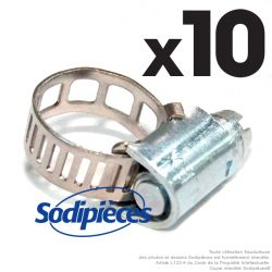 10 Colliers Serflex BP. Larg 5 mm, Ø sérrage 7 à 11 mm