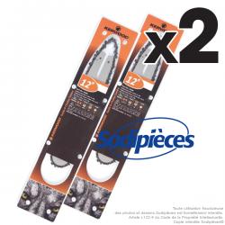 """Guide+chaine tronçonneuse Kerwood. 30cm, 3/8""""LP 1,3 mm. Par 2"""