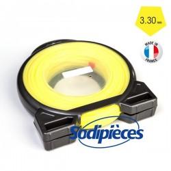 Fil à Prix Promo. Penta jaune. Coque 3,3 mm x 51 m