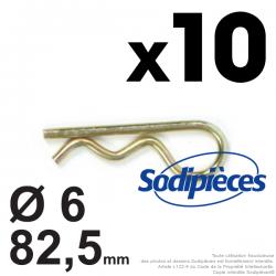Goupilles Béta Ø 6 x 82,5 mm. Sachet de 10 goupilles