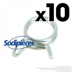 Colliers de serrage pour durite Ø 5 mm x 8 mm (10 ex)