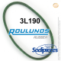 Courroie tondeuse 3L190 Roulunds Continental 9,5 x 6 x 483 mm