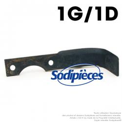 Couteaux pour Agria. 1 gauche, 1 droite. N°1250-210 99, NH19548, 1250-210 98, NH19549