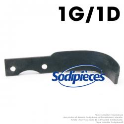 Couteaux pour BCS. 1 gauche, 1 droite.