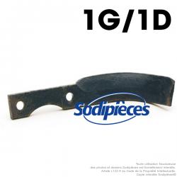 Couteaux pour BCS, Grillo, SEP. 1 gauche, 1 droite.
