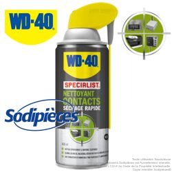 WD 40 Specialist Nettoyant contacts séchage rapide. 400 ml
