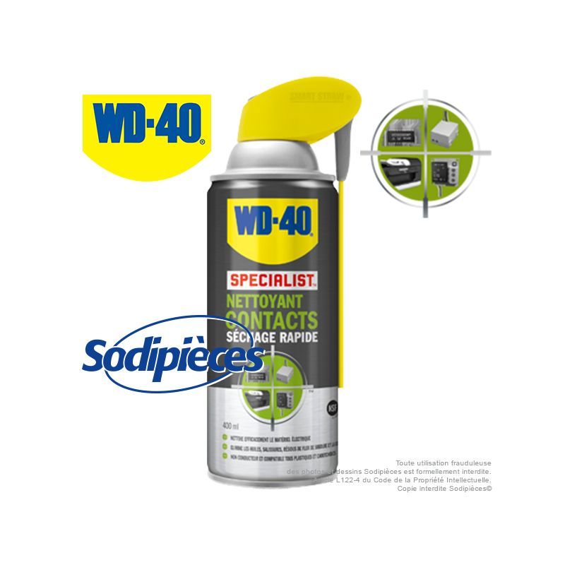 wd 40 specialist nettoyant contacts s chage rapide 400 ml. Black Bedroom Furniture Sets. Home Design Ideas