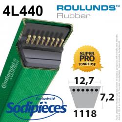 Courroie tondeuse 4L440 Roulunds Continental 12,7 x 7,2 x 1118 mm