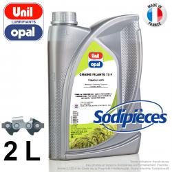 Huile chaîne filante 75F Uni Opal pour tronconneuse. 2 litres