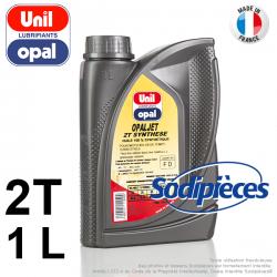 Huile moteur 2 temps Uni Opal OPALJET pour tronçonneuse. 1 litre