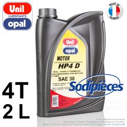 Huile moteur HP4D SAE30 Uni Opal. 2 litres