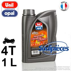 Huile synthétique 4 temps Canadian Racing 10W50 Uni Opal. 1 litre