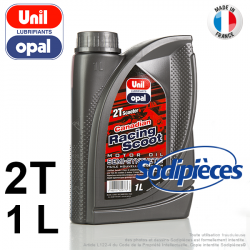 Huile semi-synthétique 2 temps Canadian Racing Scoot Uni Opal. 1 litre