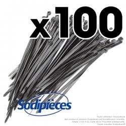 Collier de serrage 4,8 x 150 mm autobloquant plastique. Par 100
